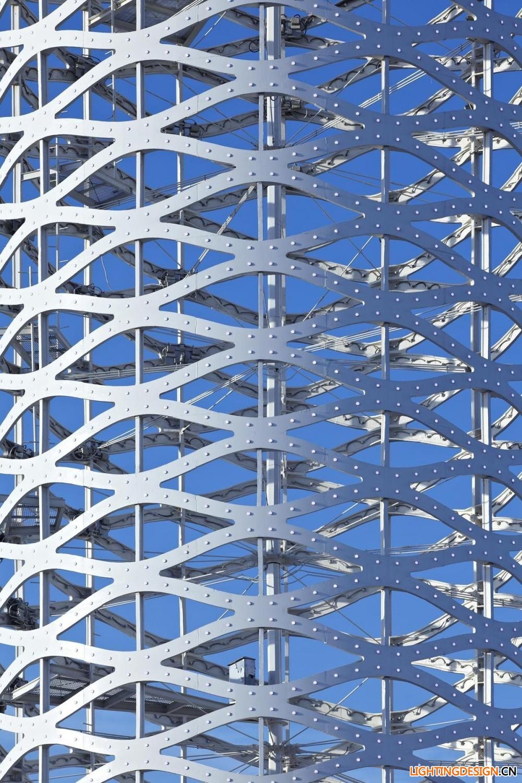 建筑环境--天津圆塔灯光夜景