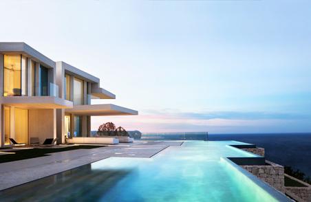 在混凝土块堆叠的住宅中俯瞰地中海 (18)