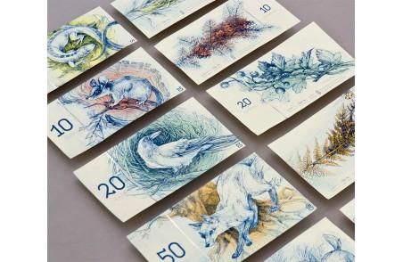 萌萌哒手绘风匈牙利纸币