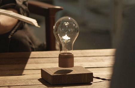 这款磁悬浮灯可以悬浮在空中,通过无线供电 (5)