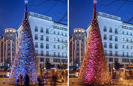 """5000块木材组建的""""不闪耀圣诞树"""" (12)"""