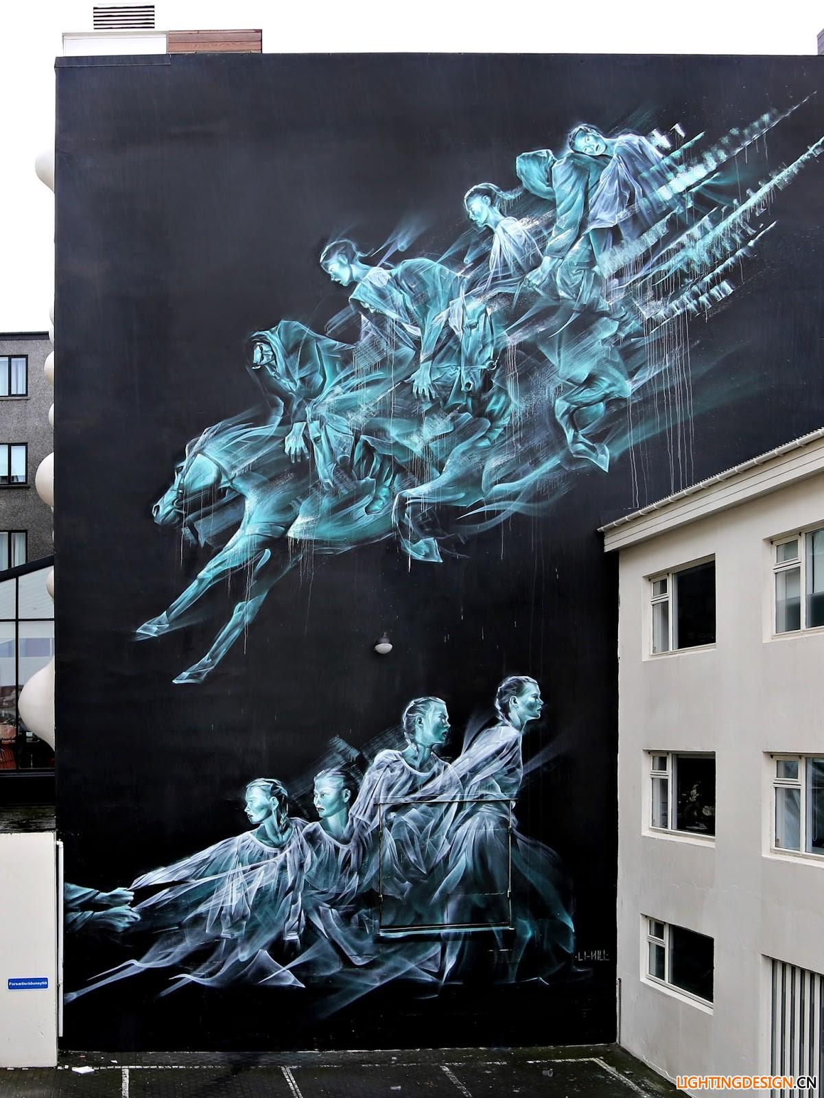 天使与魔鬼,皆融入这些城市墙面