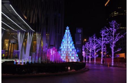 圣诞快乐 北京国贸玻璃圣诞树 (6)